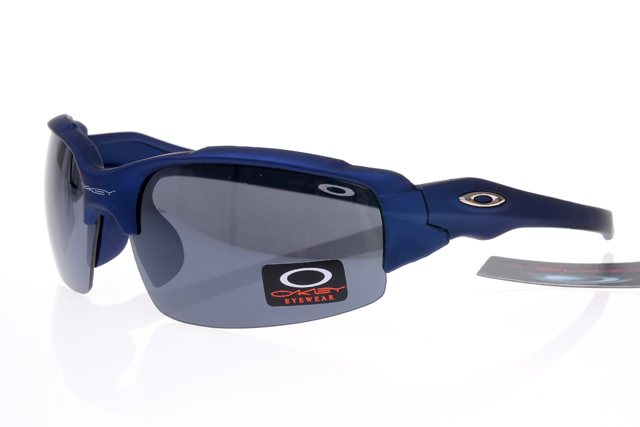 Oakley Flak Jacket Semi Rimless Blue BCC Sunglasses